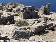 The city of Ancient Thera in Santorini